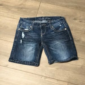Wishful Park Distressed Bling Shorts Juniors 5